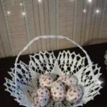 Koszyk Wielkanocny z kordonka