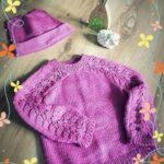 Sweterek i czapka dla dziecka z włóczki Merino GOld